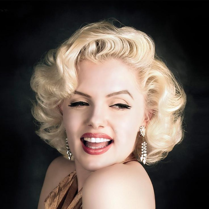 Marilyn Monroe Blonde Wig Synthetic Short Wigs For Black