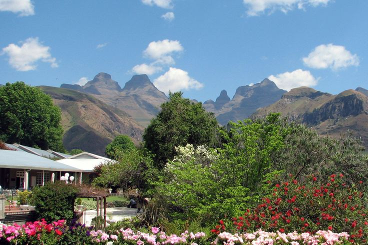 View of Cathedral Peak from Alberts Bar