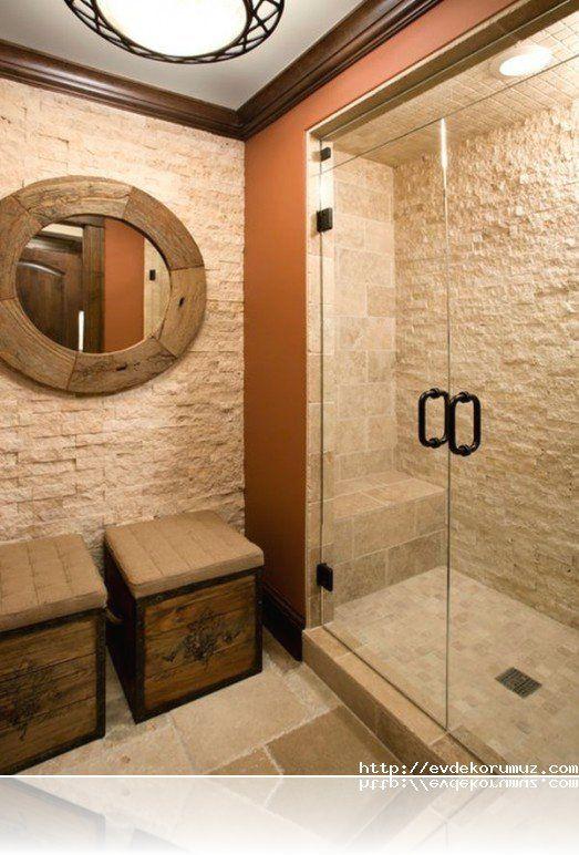 Doğal Taş Kullanılan Banyo