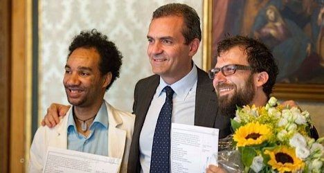 Napoli, Italy. Gay marriage between an Italian and a Spanish guy recognized by an Italian judge    http://www.google.com/url?sa=t&rct=j&q=&esrc=s&source=web&cd=3&cad=rja&uact=8&ved=0CC4QFjAC&url=http%3A%2F%2Fwww.thelocal.it%2Fpage%2Fview%2Ftag%2FNaples&ei=xVjKU6q4GOzisASv44KoDg&usg=AFQjCNHagO-lBEHEFiXsYCDMXg0jEUQalw&sig2=Uz_sD1J3_dQ5gVh3rWf-mQ&bvm=bv.71198958,d.cWc