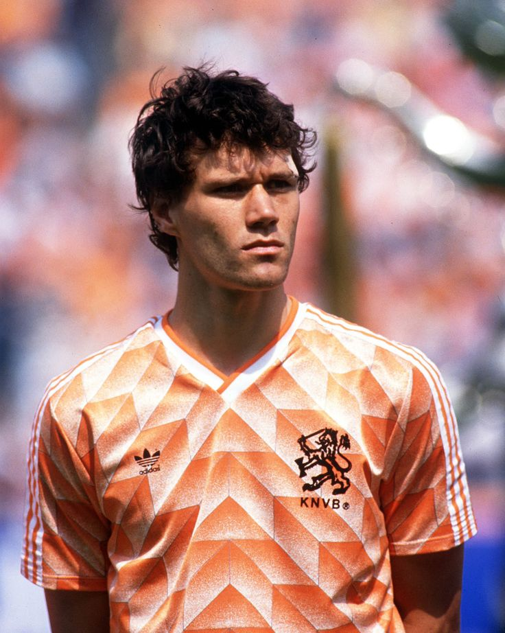 Practitioner of the death stare and scorer of one of world football's greatest ever goals during Euro 88, it's the Ajax and AC Milan legend Marco Van Basten