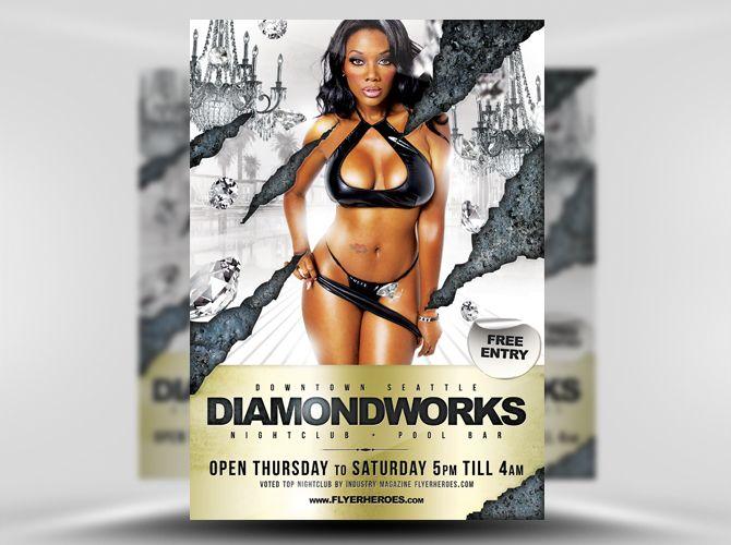 Diamondworks Free Flyer Template https://noobworx.com/store/diamondworks-free-flyer-template/?utm_campaign=coschedule&utm_source=pinterest&utm_medium=NoobWorx&utm_content=Diamondworks%20Free%20Flyer%20Template #free #flyer #template