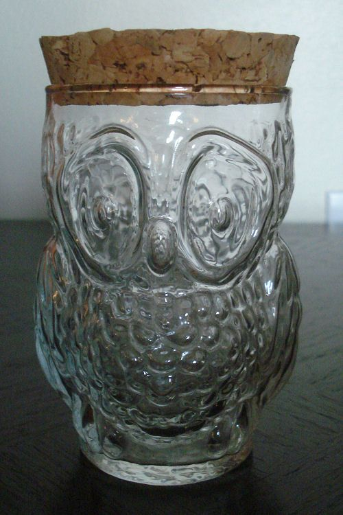 clear glass canisters for kitchen clear glass owl jar canister with cork lid storage 23312