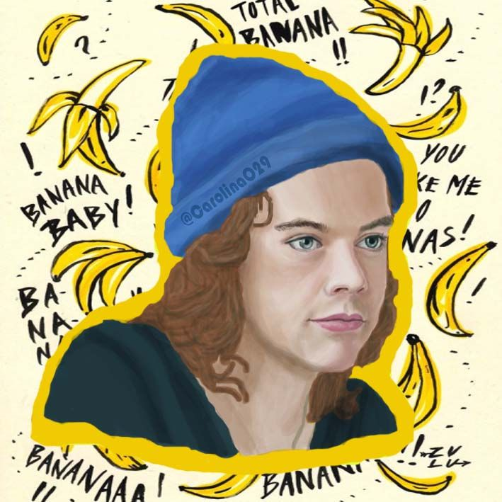 Digital Drawing of Harry Styles.