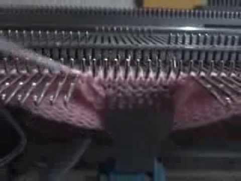 Zapatito de bebé tejido a máquina parte 3 - YouTube