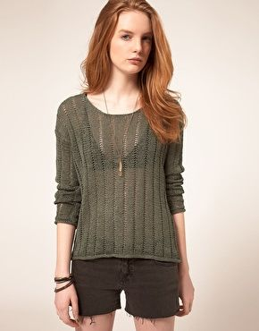 Enlarge Selected Benja Knit In Laddered Stitch Detail