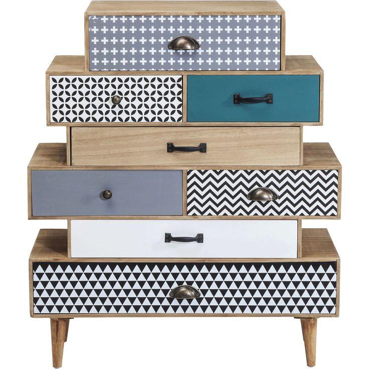 Capri dressoir 8 lades bruin - Kare Design
