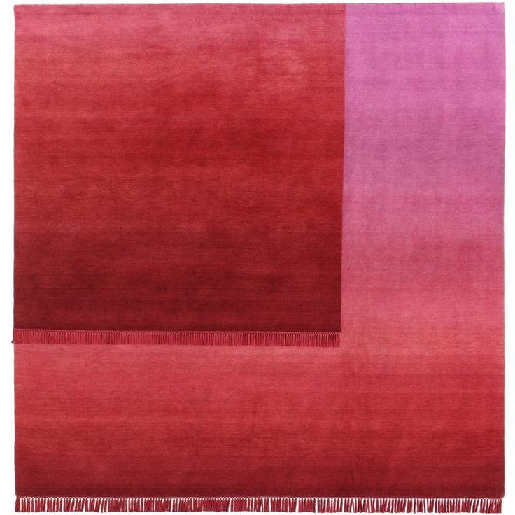 Eclipse Sedna, Rug and Wall Tapestry Nepal Highland Wool and Cotton Berry Red | From a unique collection of antique and modern chinese and east asian rugs at https://www.1stdibs.com/furniture/rugs-carpets/chinese-rugs/