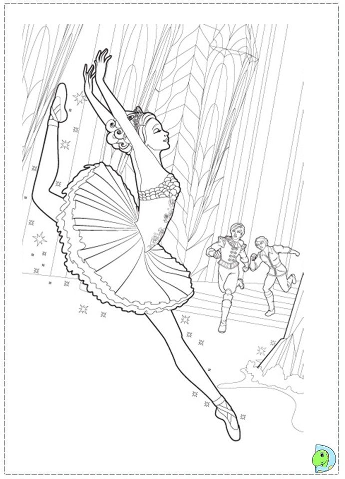 Barbie in the pink shoes printable barbie pink shoes for Barbie ballerina coloring pages