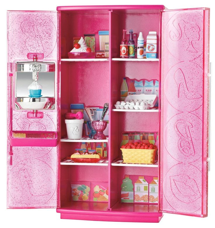 Barbie treats to tv refrigerator set v v find for for Accessoire maison barbie