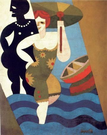 Fortunato Depero, Bagnanti, 1918