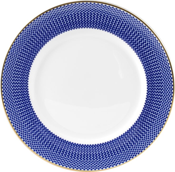 "6"" 'Benday Cobalt' Bread Plate. Complimented with 22kt Gold rims and accents, this beautiful range provides a touch of vibrancy with elegance. Hand made in Stoke-on-Trent, England, this collection is inspired by Benjamin Day: 'our homage to the dot'. 6"" plate can be used as a side plate or for dessert. Handwash Only, Fine Bone China. Find out more here: https://thenewenglish.co.uk/collections/benday-cobalt #TheNewEnglish #Benday #Cobalt"
