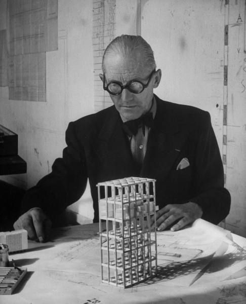 Photo of Le Corbusier by Nina Leen for LIFE, 1946