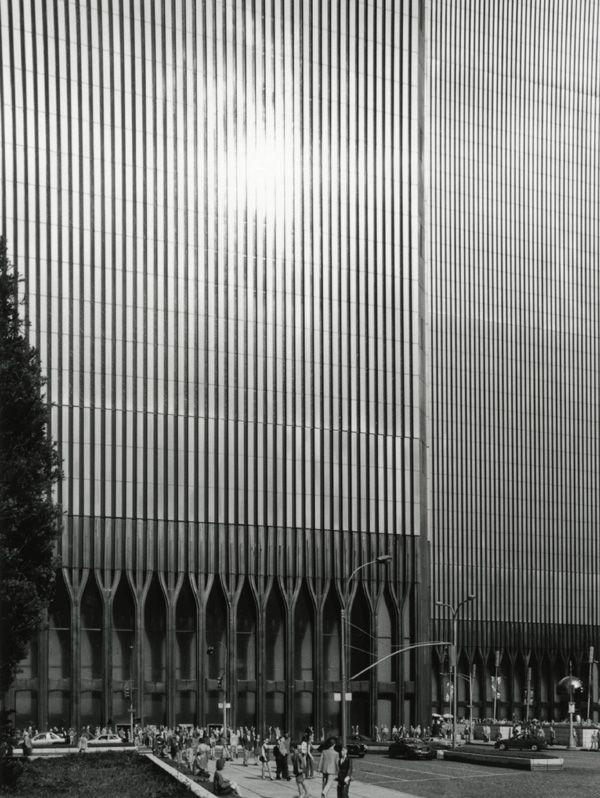 Twin Towers. World Trade Center, NYC. Minoru Yamaski Architect. Designed in 60s, both completed by 1973.