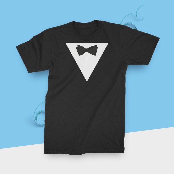 Fliege Anzug JGA Junggesellenabschied T-Shirt