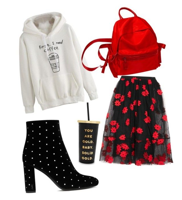 """""""Untitled #12"""" by achim-oana-lavinia on Polyvore featuring Simone Rocha, Yves Saint Laurent and ban.do"""