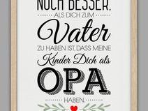 """""""BESTER OPA"""" Kunstdruck, Vatertag Geschenk"""