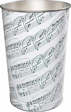 I love this waste basket with musical notes. When music plays a huge part in your family's life, this would be perfect. Also a great gift idea for a music teacher, musician or band leader.