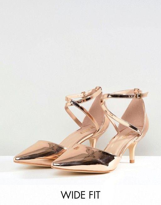 5fa50b289c78 RAID Wide Fit Lyla Kitten Heel Court Shoe 43.00