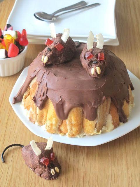 Elo à la bouche: charlotte glacée Bailey's, café et petits rats (Halloween)