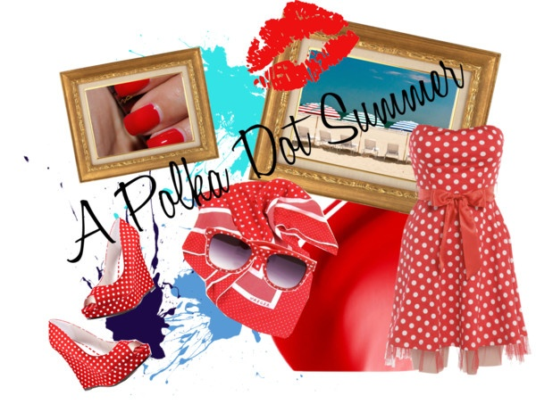 """""""A Polka Dot Summer"""" by alicia-king on Polyvore"""
