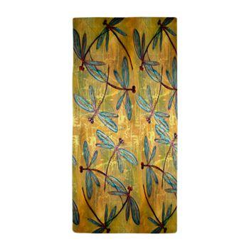 Dragonfly Golden Haze Beach Towel - Rock this towel on your favourite beach! Sun ☀️Sand Surf  and a fab beach towel