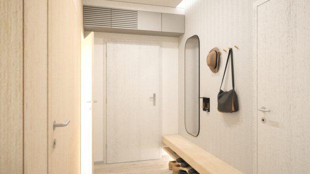 Návrh predsiene - interiér Banšelova, Bratislava - Interiérový dizajn / Hall interior by Archilab