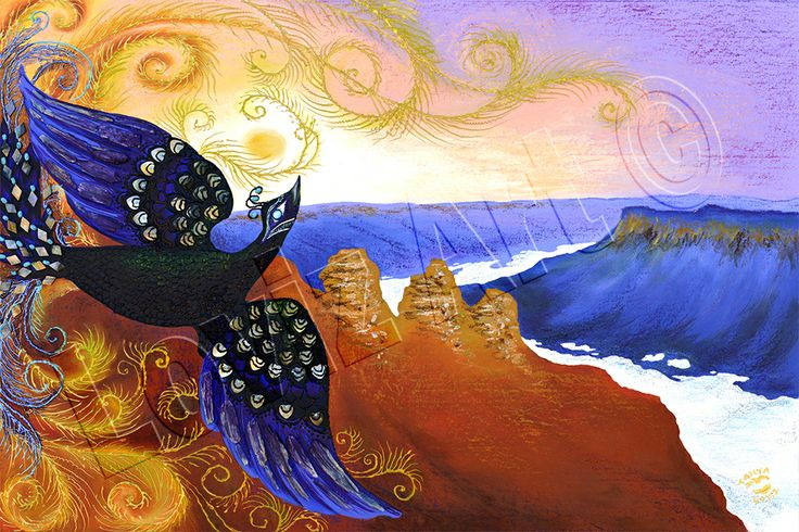 Tanya Loviz - Rising Phoenix.  Tanya is a Blue Mountains artist and painted this after the 2013 bush fires. Sorry for the watermark!