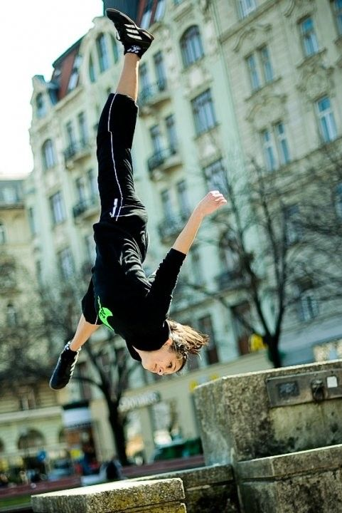 I shall do that.... maybe.  I love parkour!