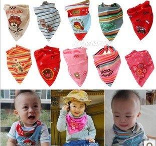 1 * Baby Saliva Triangular Bib Scraft K0816 | My Clothing Online Store