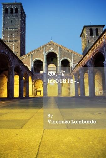 免版稅圖片:意大利倫巴第大區米蘭聖安布羅焦教會
