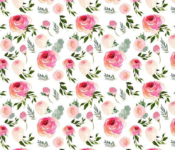 Pink Floral Fabric By The Yard Rose Fabric Bohemian English