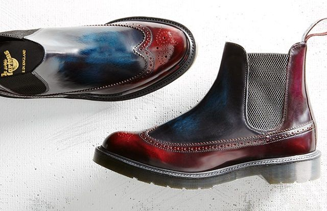 Dr. Martens BARACK MIE Brogue Chelsea Boot