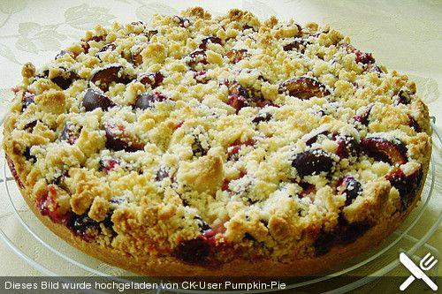 Zwetschgen - Streuselkuchen mit Pudding