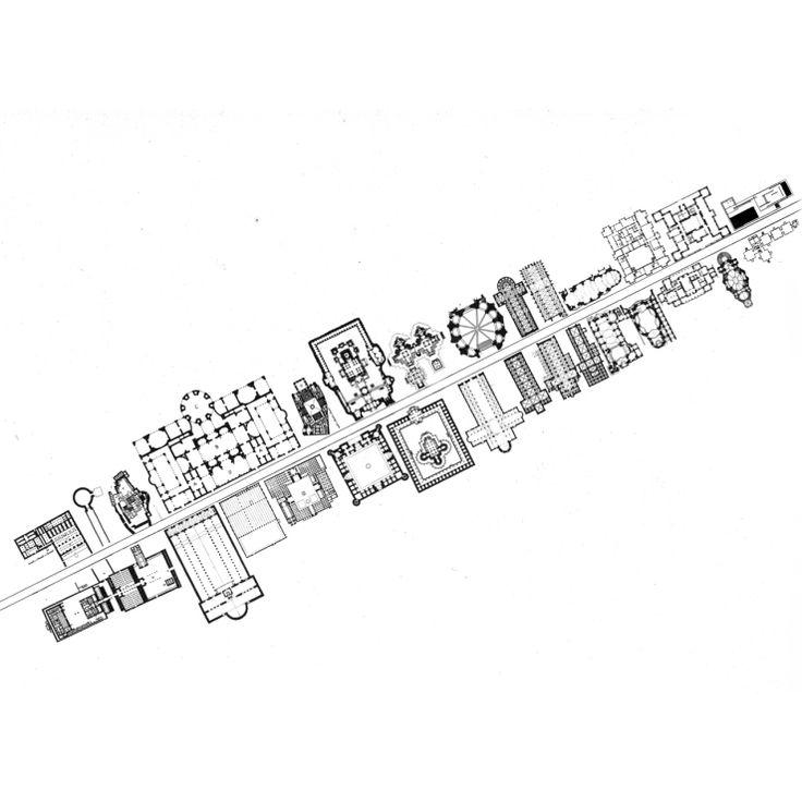 Boulevard de la Historia de la Arquitectura, Hans Dieter Schaal, 1970