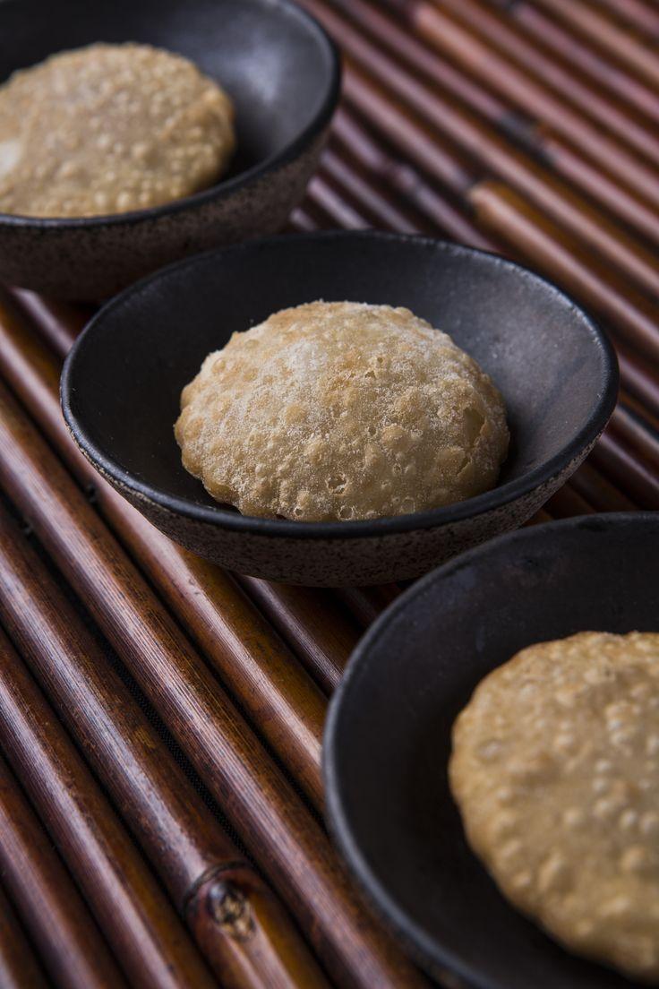 Mini pastéis de carne seca com abóbora e queijo de nata