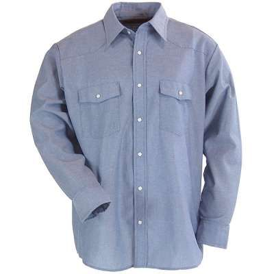 Red Kap Shirts: Western Style Long Sleeve Uniform Shirt SC14LB