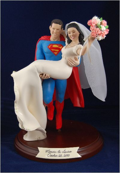 Unique Wedding Cake Toppers,cake tops and custom figurines sculpted from your photos. Made of polymer clay, wedding cake toppers / tops or figurines for any occasion--LOVE THIS!!!