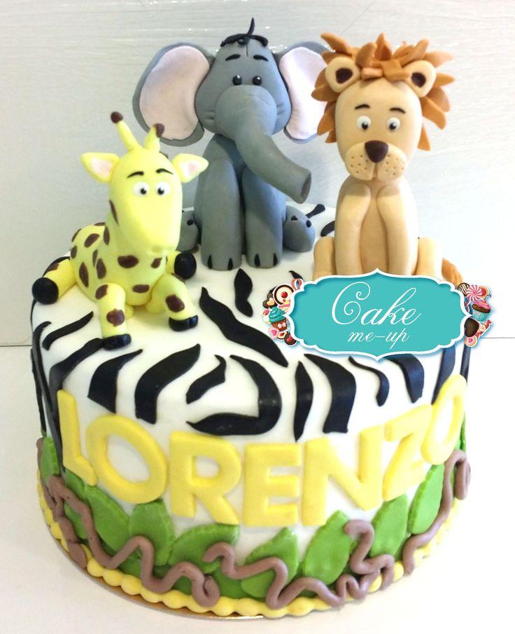 #pescara #cakemeup #pastadizucchero #decorazione #topper #cake #torta #compleanno #animali #zoo #leone #giraffa #elefante
