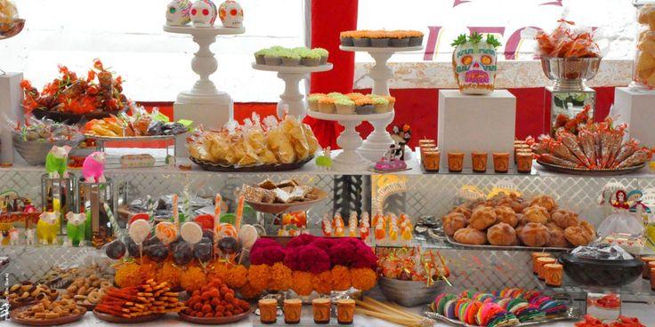 Hermosa mesa de dulces mexicanos me gusta la selecci n - Decoracion fiesta jardin ...