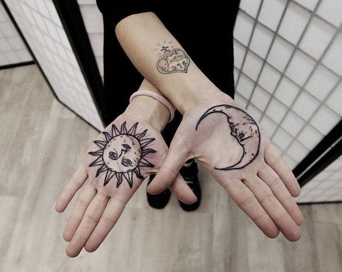 Tatuajes En Manos Palm Tattoos Hand Palm Tattoos Tattoos