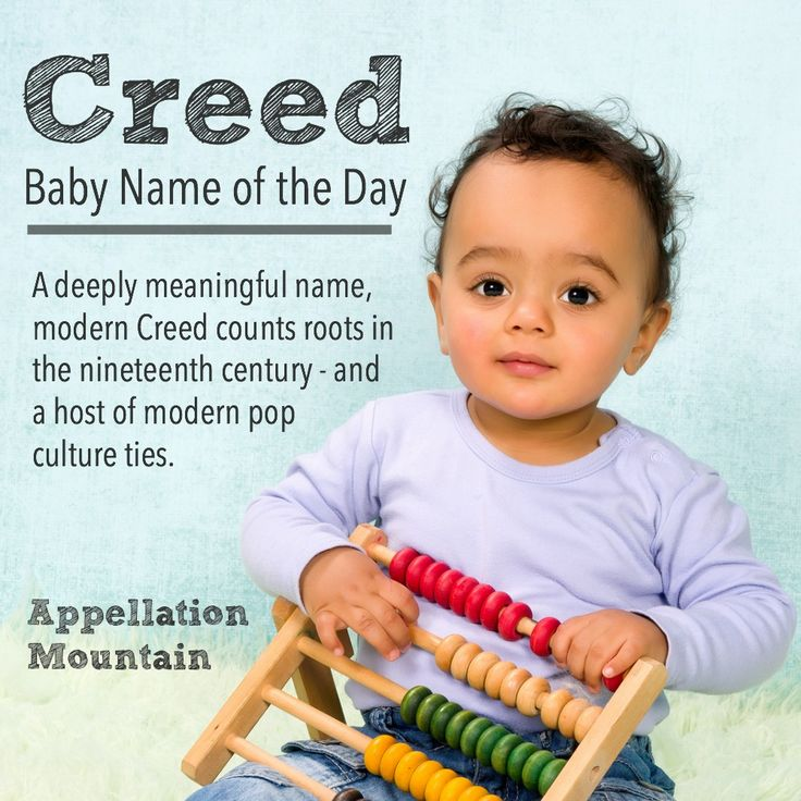 Love meaningful baby names? Creed feels as masculine as Reed, as meaningful as Bodhi, as distinctive as Croy or Reeve. If you like unusual boy names with spiritual significance, Creed might be for you.