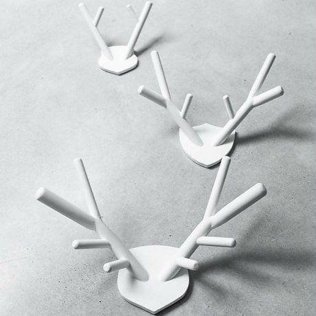 HK-living Hirsch, weiß, Holz, 61 x 46 cm (XL)