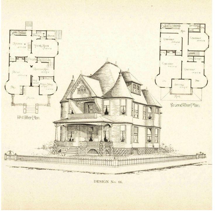 79 best vintage house plans 1800s images on pinterest for 1800 mansion floor plans