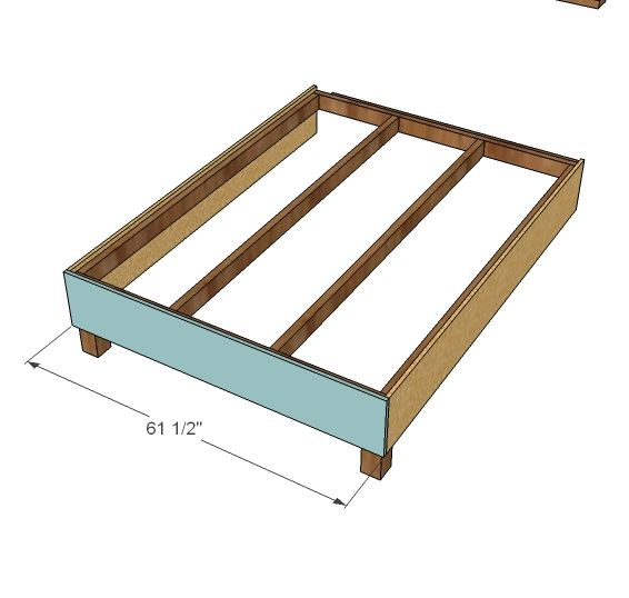 Ana White | Build a Lyds' No-Sew Upholstered Bed | Free ...