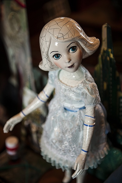 China Girl from China Country is a new character introduced by 'Oz: The Great and Powerful.' Albright collects all Oz memorabilia both new and old.