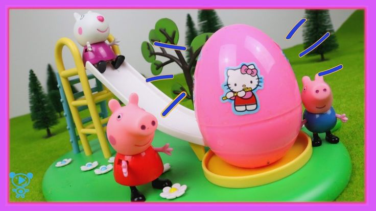 Peppa Pig Toys Video - Peppa Pig & George on the playground - Hello Kitt...