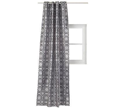 Visillo confeccionado  50€ ARABESQUERef.16706774 Visillo con opacidad media con diseño arabesque fabricado en poliéster 100%. Confeccionado mediante ollaos. Medidas 140 x 260 cm.