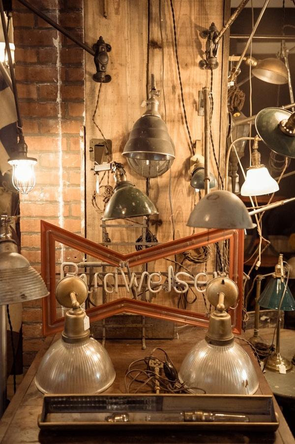 Vintage industrial light fixtures