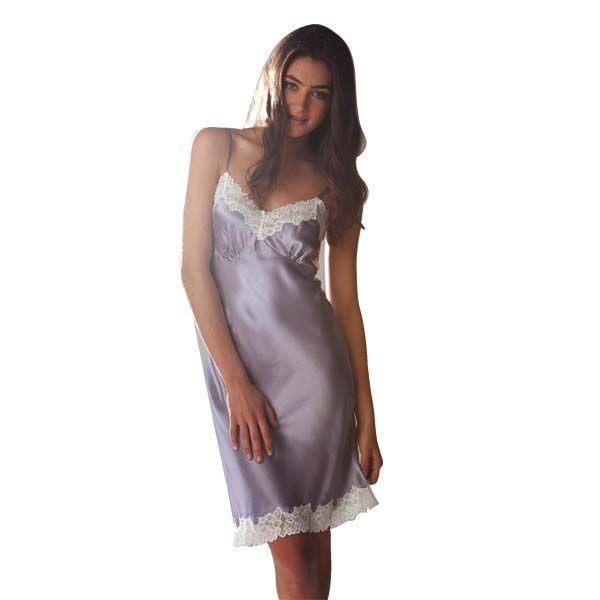 Lilac Satin Chemise by Pillow Talk | Pyjamas.com.au